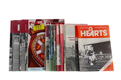 Lot 1830 - A COLLECTION OF HEART OF MIDLOTHIAN PROGRAMMES