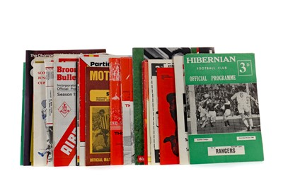 Lot 1831 - A COLLECTION OF SCOTTISH FOOTBALLING PROGRAMMES
