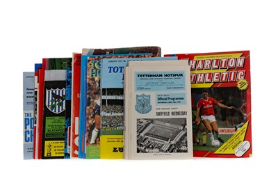 Lot 1832 - A COLLECTION OF ENGLISH FOOTBALL PROGRAMMES