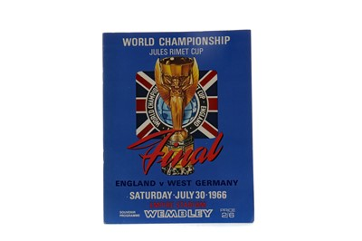Lot 1834 - AN ENGLAND VS. WEST GERMANY WORLD CUP FINAL PROGRAMME 1966