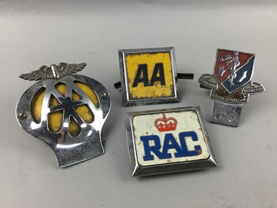 Lot 35 - A LOT OF CAR BADGES, MEDALS AND OTHER ITEMS