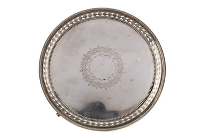 Lot 464 - A VICTORIAN SILVER CARD TRAY