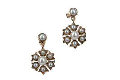 Lot 316 - TWO PAIRS OF EARRINGS