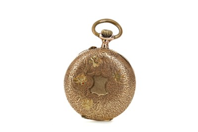 Lot 719 - A LADY'S FOURTEEN CARAT GOLD CASED FOB WATCH