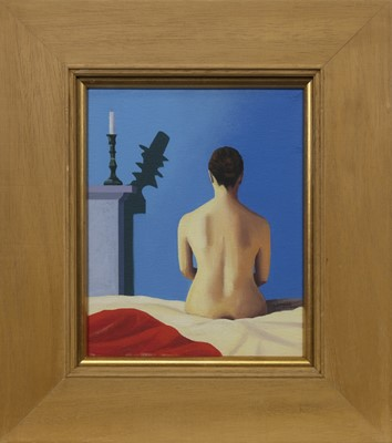 Lot 602 - NUDE AND CANDLE, AN OIL BY LESLEY BANKS