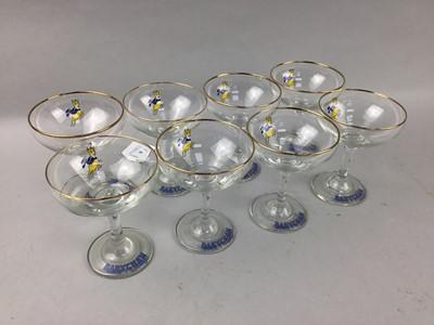 Lot 41 - A SET OF EIGHT BABYCHAM STEMMED GLASSES
