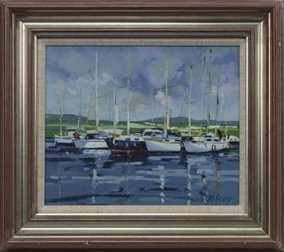 Lot 594 - INVERKIP MARINA, AN OIL BY ROBERT KELSEY