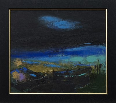 Lot 606 - THE RIVER CROSSING, A MIXED MEDIA BY JACKIE GARDINER