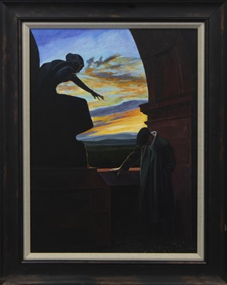 Lot 605 - THE SECRET FLOWERS, AN OIL BY FRANK MCNAB