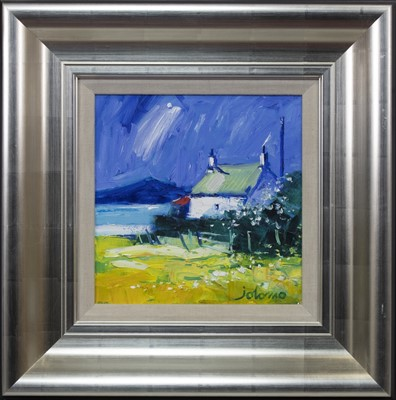 Lot 597 - EVENING EAIN, ISLE OF GIGHA, AN OIL BY JOLOMO