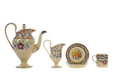 Lot 1043 - A MILLICENT TAPLIN FOR WEDGWOOD EARTHENWARE PART COFFEE SET