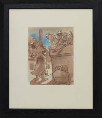 Lot 591 - DIRTY, A PASTEL BY PETER HOWSON