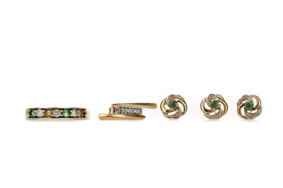 Lot 304 - A COLLECTION OF DIAMOND SET ITEMS