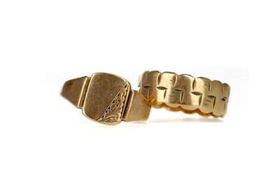 Lot 317 - TWO GOLD RINGS