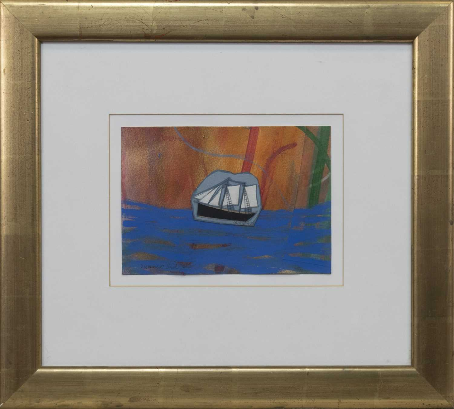 Lot 560 - SUMMER SAIL, A MIXED MEDIA BY SIMON LAURIE