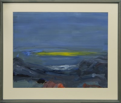 Lot 578 - SOLWAY SUNSET, A GOUACHE BY JEAN RODGER