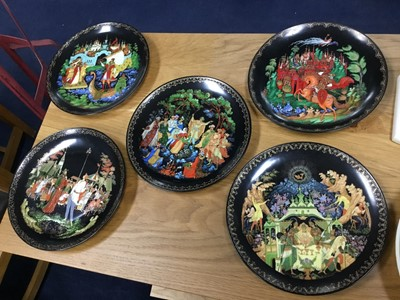 Lot 18 - A COLLECTION OF RUSSIAN ITEMS, INCLUDING PLATES