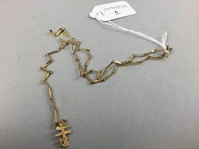 Lot 6 - AN EIGHTEEN CARAT GOLD SLENDER LINK NECKLACE