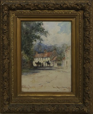 Lot 4 - THE VILLAGE INN, A WATERCOLOUR BY JAMES MCMASTER