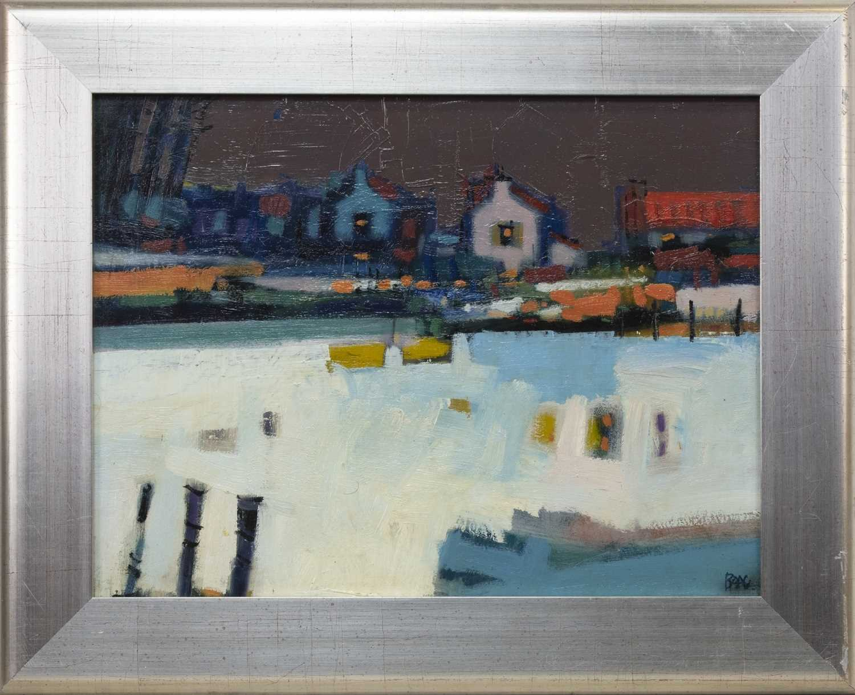 Lot 575 - WINTER EAST CROSSLEY, AN ACRYLIC BY FRANCIS BOAG