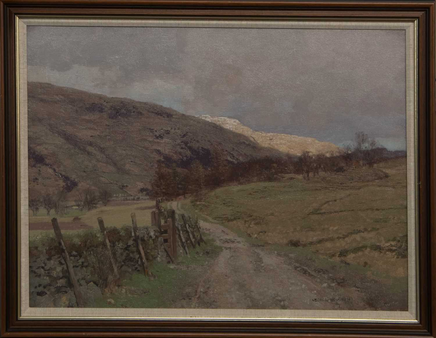 Lot 15 - THE HIGHLAND PATH, AN OIL BY GEORGE HOUSTON