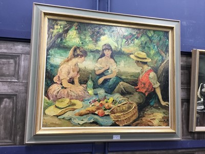 Lot 4 - THE PICNIC, MARCEL DYF AND A STILL LIFE WITH LOBSTER