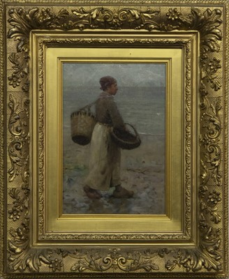 Lot 16 - A DAY AT WORK, AN OIL BY ROBERT MCGREGOR