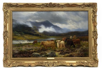 Lot 2007 - THE DOCHART VALLEY, PERTHSHIRE, AN OIL BY LOUIS BOSWORTH HURT