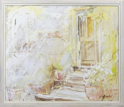 Lot 620 - THE PORCH, AN OIL BY JO VANTOURNHOUT