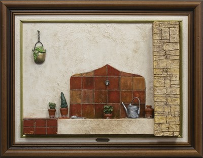 Lot 623 - LA PETITE FONTAINE, A MIXED MEDIA CONSTRUCTION BY LOUIS GIORDANO