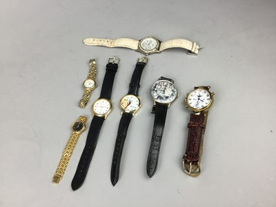 Lot 100 - A LOT OF WRIST WATCHES