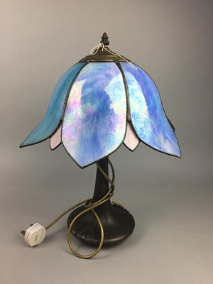 Lot 56 - A TIFFANY STYLE TABLE LAMP