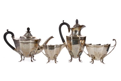 Lot 476 - A FOUR PIECE SILVER TEA AND COFFEE SERVICE