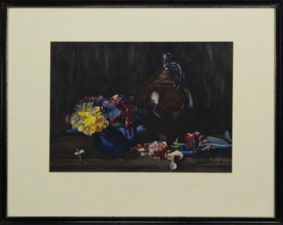 Lot 32 - STILL LIFE WITH JUG, A WATERCOLOUR BY ANN SPENCE BLACK