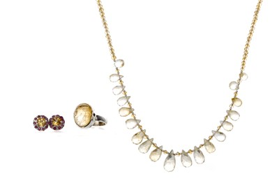 Lot 337 - A COLLECTION OF CITRINE JEWELLERY