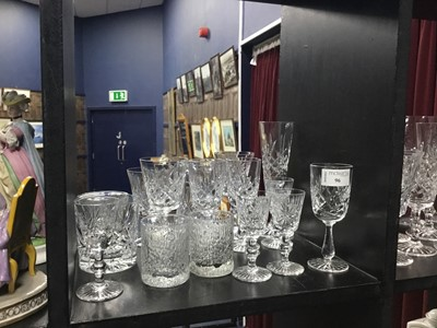 Lot 96 - A LOT OF CRYSTAL AND GLASS WARE