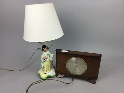 Lot 30 - A MID CENTURY METAMEC MANTEL CLOCK AND OTHER ITEMS