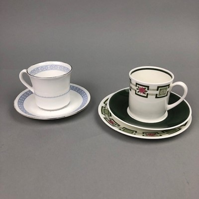 Lot 18 - A WEDGWOOD SUSIE COOPER COFFEE SERVICE AND A ROYAL WORCESTER COFFEE SERVICE