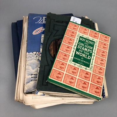 Lot 91 - A LOT OF STAMP ALBUMS AND BOOKS
