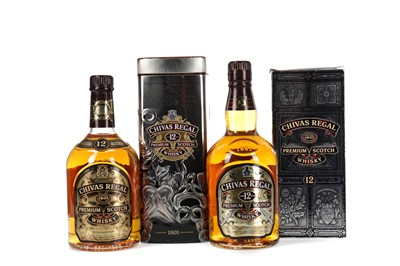 Lot 78 - TWO BOTTLES OF CHIVAS REGAL AGED 12 YEARS