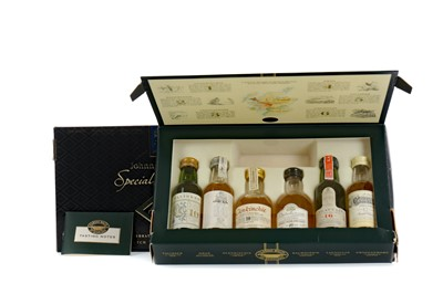 Lot 80 - JOHNNIE WALKER SPECIAL COLLECTION AND CLASSIC MALTS MINIATURE PACKS