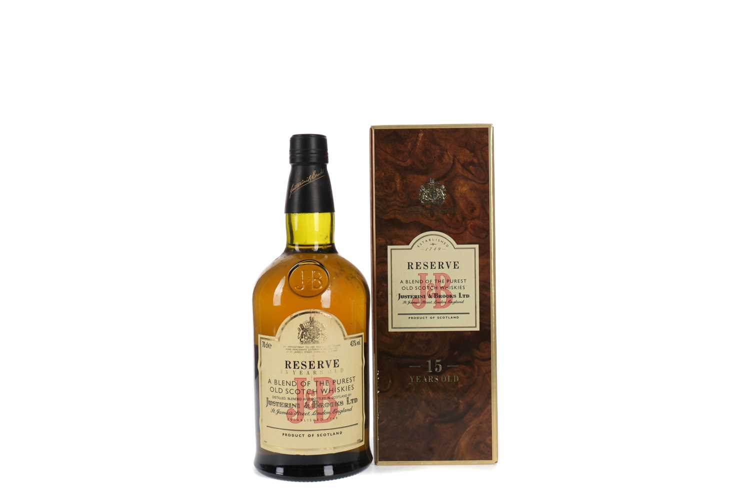 Lot 77 - J&B RESERVE 15 YEARS OLD
