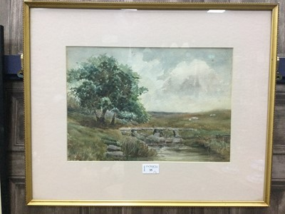 Lot 35 - LANDSCAPE WITH A RIVER BY M.E CARNER AND TWO OTHERS