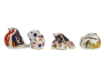 Lot 1057 - FOUR ROYAL CROWN DERBY PAPERWEIGHTS