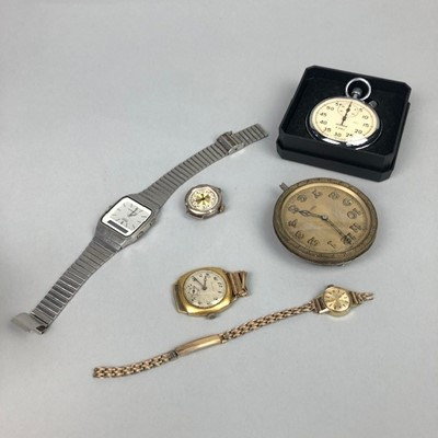 Lot 17 - A SEKONDA 16 JEWELS STOP WATCH ALONG WITH OTHER WATCHES