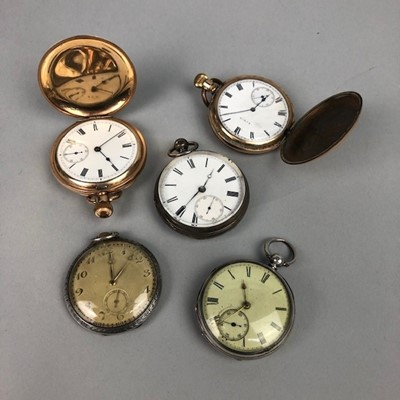 Lot 14 - A LOT OF FIVE POCKET WATCHES