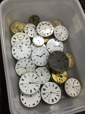 Lot 21 - A COLLECTION OF WATCH MOVEMENTS AND PARTS