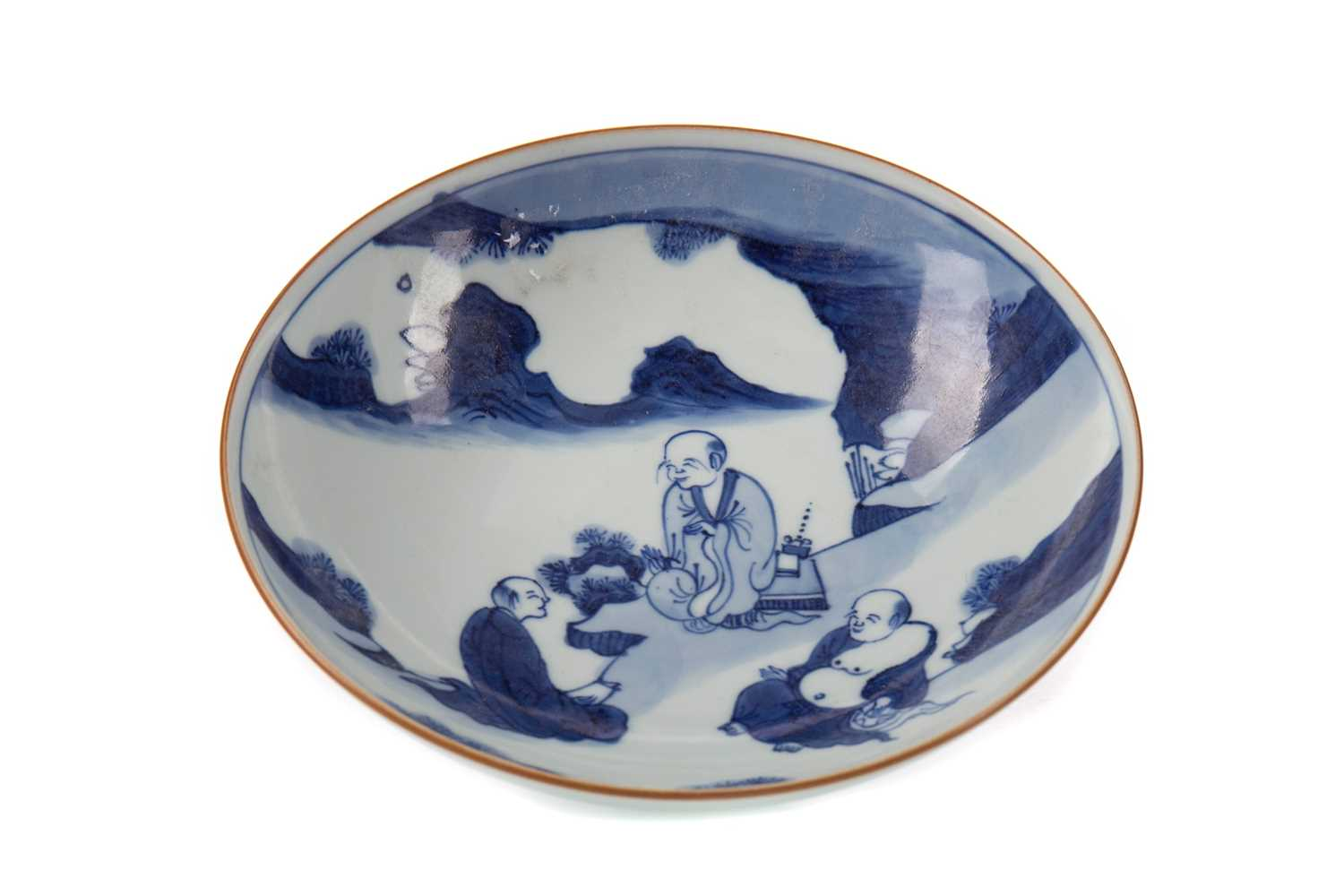 Lot 1685 - A 20TH CENTURY CHINESE BLUE AND WHITE BOWL