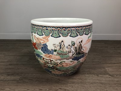 Lot 844 - A LATE 19TH CENTURY CHINESE STONEWARE PLANTER