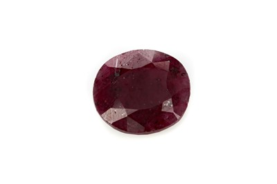 Lot 445 - **A CERTIFICATED UNMOUNTED RUBY
